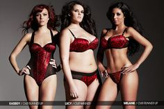 Lucy Moore won a competition by Ann Summers to model their Valentines collection, pictured here with the runners up.