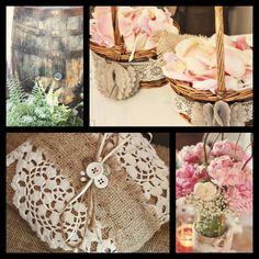 Rustic wedding decor and accessories.