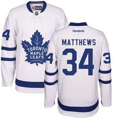 f5fd1369512 Reebok Toronto Maple Leafs  34 Youth Auston Matthews Authentic White Away NHL  Jersey Mitchell And