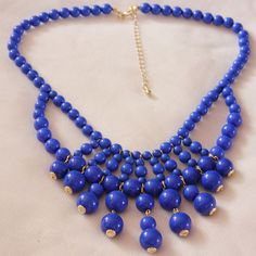Sexton in the City Boutique Bib Necklaces, Beaded Necklace, Indigo Blue, Bubbles, Boutique, City, Jewelry, Style, Fashion