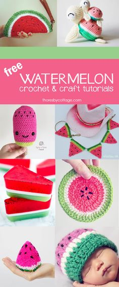 Watermelon craft and crochet tutorials