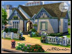Foxglove Cottage by petitchouchou at TSR via Sims 4 Updates