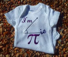 Cutie Pie - Math Fun Baby Onesie by LoveMakingsAndDesign on Etsy