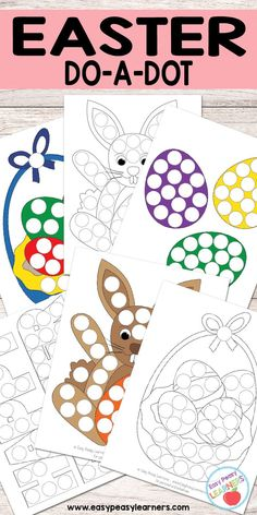 Free Easter Do a Dot Printables - Easy Peasy Learners Easter Activities For Kids, Spring Activities, Easter Crafts For Kids, Toddler Activities, Preschool Activities, Easter Ideas, Easter Worksheets, Free Easter Printables, Dots Free