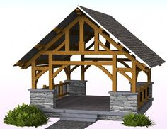View our timber frame pavilion starter designs here. We can custom design and build a pavilion for your exact wants or needs. Contact us for your custom pavilion.