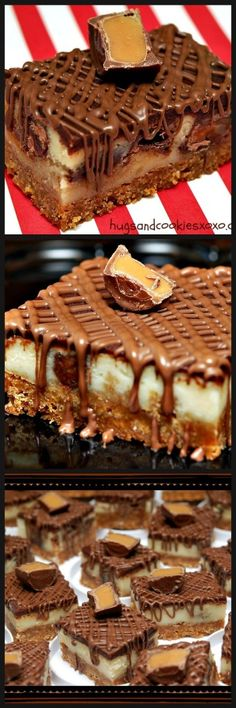 Once you make these Rolo Cheesecake Bars, you will be hooked. Cheesecake+Rolos=perfection! Graham cracker crust, rolo cheesecake, chocolate glaze