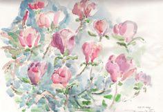Magnolien in PinkRosé von Kunstwelt auf Etsy, €380.00