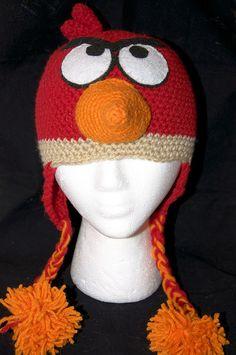 angry birds crochet hat