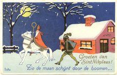 sinterklaas vintage kaart