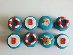 Zwemdiploma cupcakes