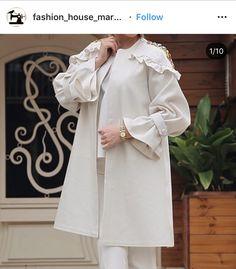 Abaya Fashion, Muslim Fashion, Kimono Fashion, Women's Fashion Dresses, Elegant Dresses Classy, Elegant Outfit, Classy Dress, Modele Hijab, Iranian Women Fashion