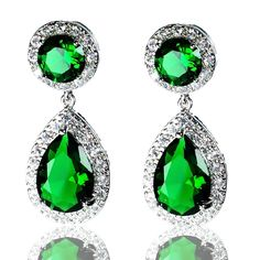 Find More Drop Earrings Information about Brilliant Created Emerald Round and Pear Shaped CZ Halo Drop Earrings Silver Tone Faceted Cut Green Teardrop Earrings for Party,High Quality teardrop earrings,China earrings for Suppliers, Cheap earrings for party from Dreamland Dresses & Accessories on Aliexpress.com