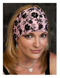 Haarband Stirnband Kopfband Bandana Rockabilly Pin up Retro Gothic Schwarz