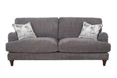Buoyant Charleston 4 Seater Sofa Shown in Grace Pewter & Voyage Aqua