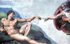 Michelangelo Buonarroti, Creazione di Adamo, particolare, Cappella Sistina, 1508-1512