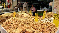 street food to try: Baked cookies at Jerusalem's Mahane Yehuda Market