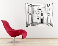 Vinilo ventana con vino                                                                                                                                                                                 Más