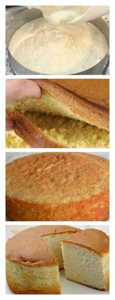 Pão de Ló Fofinho com 3 Ingredientes fácil veja>> salve este pin #paodelo