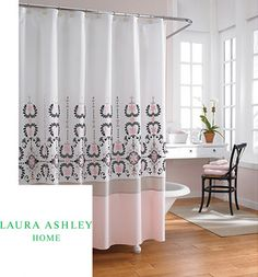 Laura Ashley 'Yardley' 72-inch Shower Curtain - contemporary - shower curtains - by Overstock.com