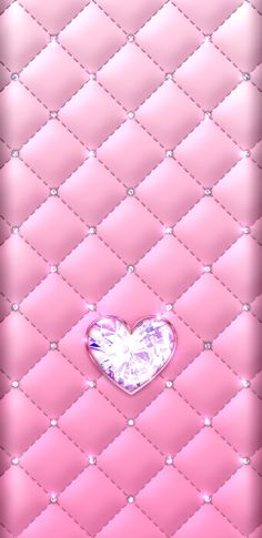 By Artist Unknown. Pink Diamond Wallpaper, Bling Wallpaper, Flowery Wallpaper, Luxury Wallpaper, Heart Iphone Wallpaper, Iphone Background Wallpaper, Beautiful Wallpapers For Iphone, Cute Wallpapers, Wallpaper Telephone