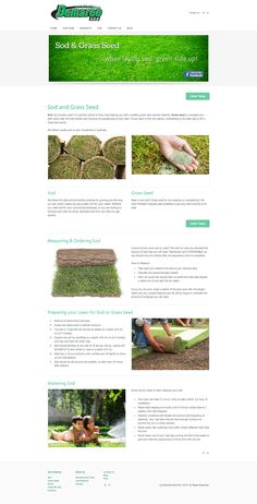 Demaree Sod Farm Sod & Grass Seed products page. This page provides information about the products and how to maintain a lawn.