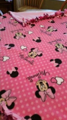 Minnie Mouse baby blanket
