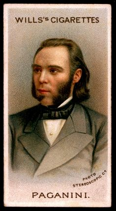 """#6 Nicolo Paganini (Violinist), 1784-1840 - Wills's Cigarettes, """"Musical Celebrities A Series"""" 1912. Flickr Photo Sharing."""