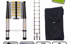 Silex Pro Echelle télescopique 4,10 m avec housse de transport/barre stabilisatrice: Marque française aux normes CE - Silex Fre garantie 3…