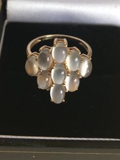 This is a stunning rare moonstone ring . Gold Jewelry, Jewellery, Unique Jewelry, Vintage Clothing, Vintage Outfits, Peaky Blinders, Sparkles, Heart Ring, My Etsy Shop