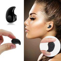 Mini Wireless Bluetooth 4.0 Stereo In-Ear Headset Earphone Earbud Earpiece Black
