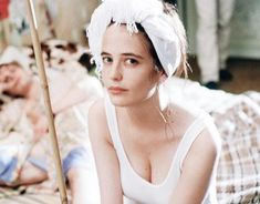 Eva Green photographed on the set of 'The Dreamers' (Bernardo Bertolucci, Eva Green, Bernardo Bertolucci, French Beauty, French Actress, Vintage Party, Beautiful Mess, Celebs, Celebrities, Sensual