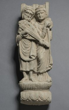 Bracket with Two Musicians (Nagadanta), 2nd Century Pakistan, Gandhara, probably Butkara in Swat, Kushan Period (1st century-320)