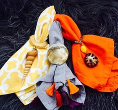 Chic Napkin Ring Sets in Choice of Tiger by JesseDimondDesign