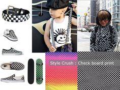 Checkerboard print trend kindermode