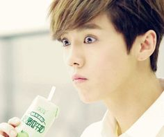 Luhan -> he looked like he's been told that it's poisoned but doesn't give two shits and still drinks it