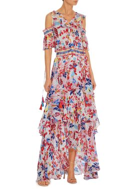Textured Floral Isabelle Dress by TANYA TAYLOR Now Available on Moda Operandi