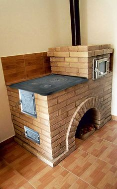 Build Outdoor Kitchen, Outdoor Kitchen Design, Outdoor Stove, Rustic Kitchen, Mini Wood Stove, Wood Burning Heaters, Brick Bbq, Dirty Kitchen, Wood Stove Cooking