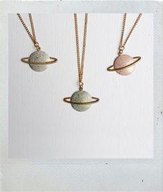 Planet necklaces!