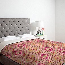 image of DENY Designs Pattern State Tile Tribe Tang Duvet Cover in Pink