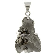 Sterling Silver, Large Meteorite Pendant. Now you can wear your very own falling star on this pendant crafted from a real meteorite! ***Size and Shape of Meteorite May Vary***
