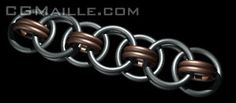 I'm going to learn this one, so cool in 2 types of metal.  Helms chain chainmaille tutorial.