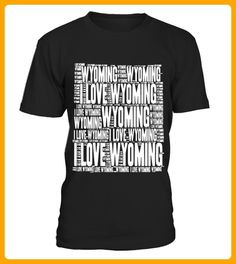 I Love Wyoming  United States of America Word Cloud Graphic - 14 juli shirts (*Partner-Link)