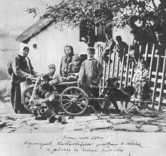 German colonists going to a village near Kamianets-Podilskyi (now the Ukraine).