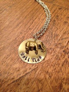 "Alabama ""Roll Tide"" Necklace good gift for all the bummers in my life"
