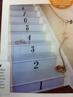 Cool hand rail and #'s