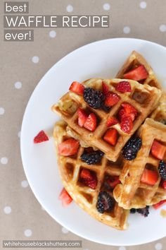 The best waffle recipe EVER! Soft, buttery, and slightly crispy. The best waffle recipe EVER! Best Belgian Waffle Recipe, Best Waffle Recipe, Waffle Iron Recipes, International Waffle Day, Sweet Potato Waffles, Homemade Waffles, Waffle Cake, Vegan Cake, Churros