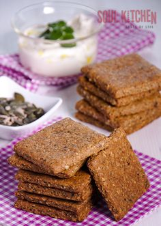 Healthy and extremely delicious rustic multigrain crackers. #recipes #crackers #healthy