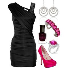 Love the dress and shoes... Not so much the jewelry though