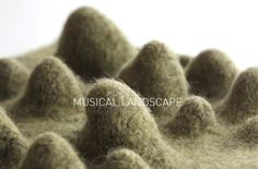 Felted Musical Landscape : New Textiles 2012