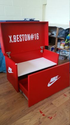 XL Trainer ShoeStorage Box, Nike Giant Sneaker Box (fits pairs of trainers), gift for him, bir Closet Storage, Storage Boxes, Diy Storage, Storage Ideas, Cool Trainers, Jordan Shoe Box Storage, Giant Shoe Box Storage, Street Furniture, Backgrounds